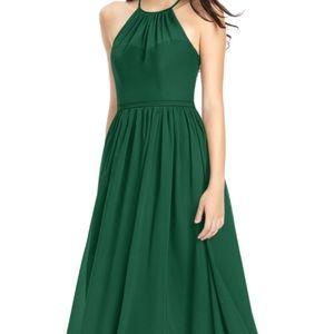 Azazie kailyn dress dark green